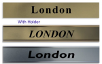 World TimeZone Sign for wall Clocks  | 4 Custom Made Name Plates Any Text | Citys Name